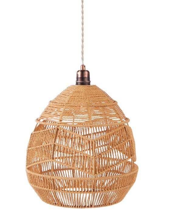 Rattan lampshade, £30, George
