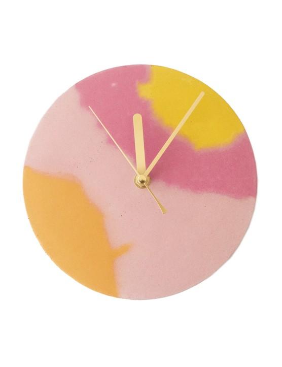 Pink and Orange Circle Clock, £50.00, Curious Makers
