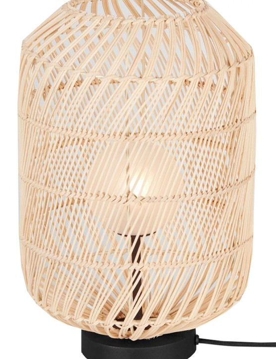 Java rattan table lamp, £69, Made.com