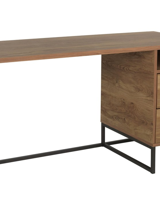 Nomad 2 Drawer Desk - Oak Effect, £180, Argos Home