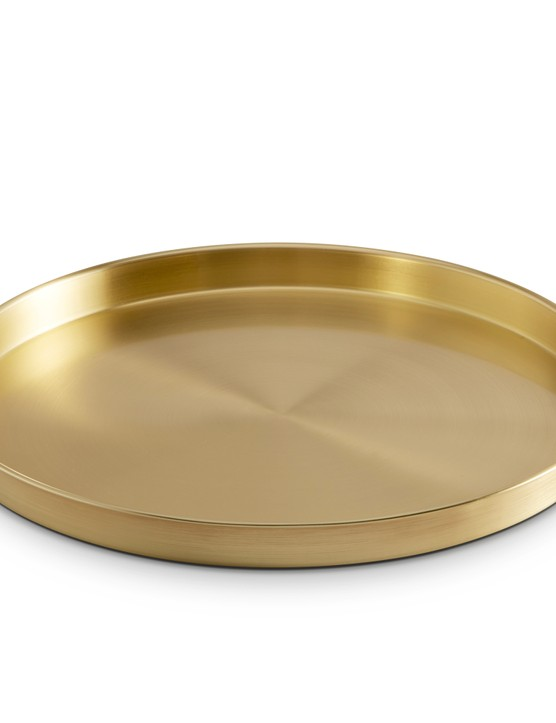 Brushed gold drinks tray by Vonhaus, £19.99