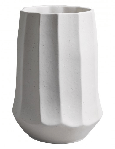Blair White carved ceramic cylinder vase by Habitat, £25