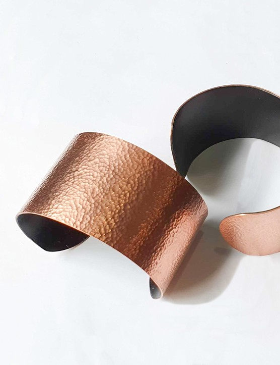 Mentao copper cuff in black, $55, Artisan & Fox