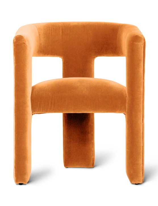 Tress Mustard Yellow Velvet Chair, £375, Oliver Bonas