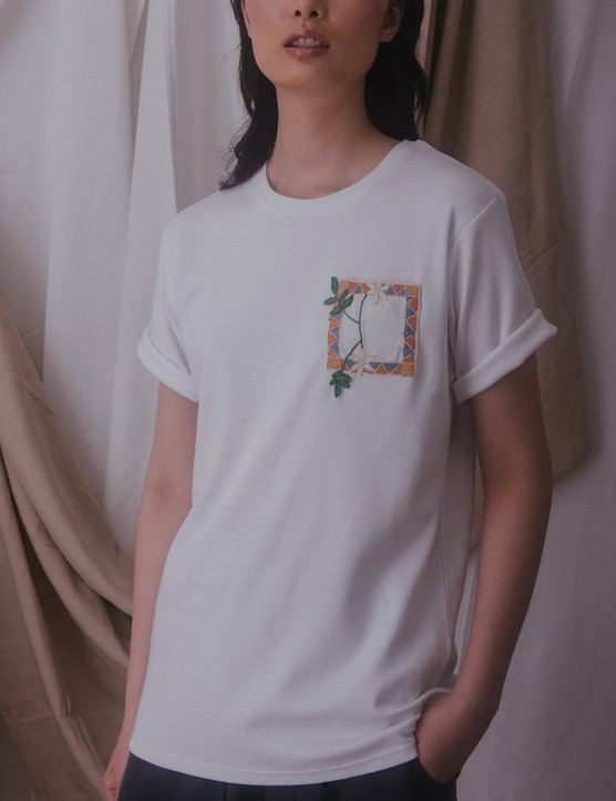 Threads of Syria Aleppene jasmine tee in white, £39.77, Artisan & Fox