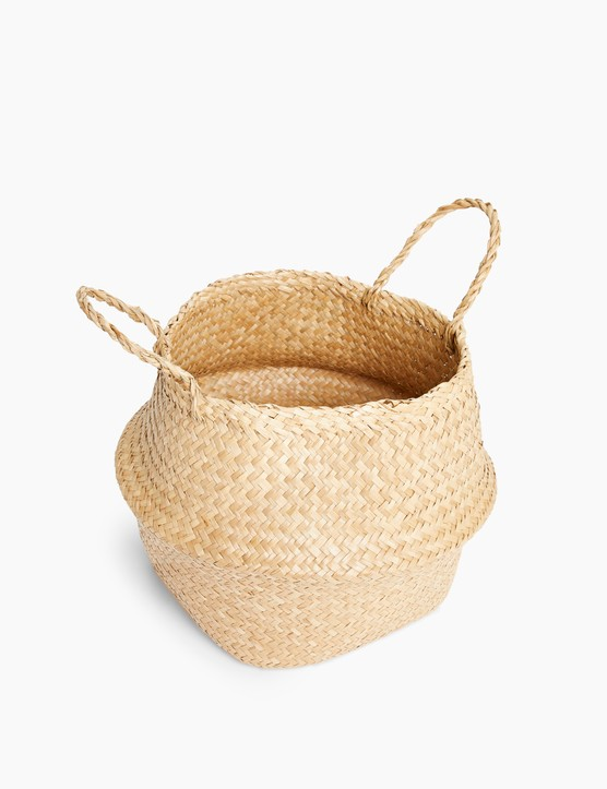 Large Straw Belly Basket, £17.50, M&S