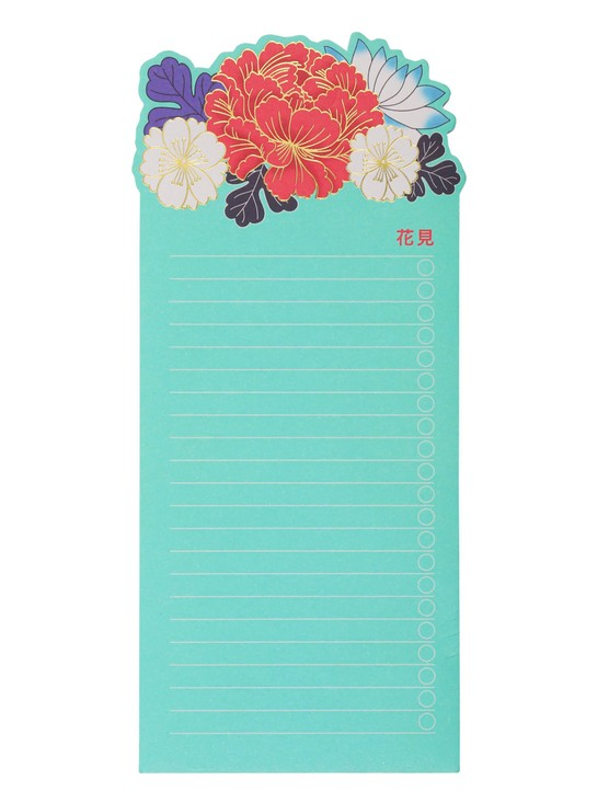 Sakura die cut list pad, £5, Paperchase