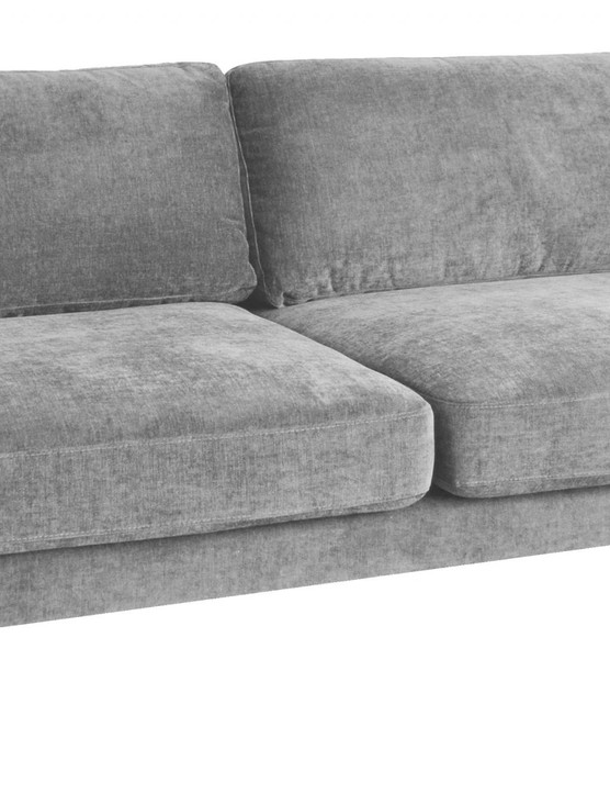 Opt for a deep neutral sofa that you can dress up with cushions and throws for extra cosiness. Mid Grey three-seater sofa in a box, £899, Snug Shack