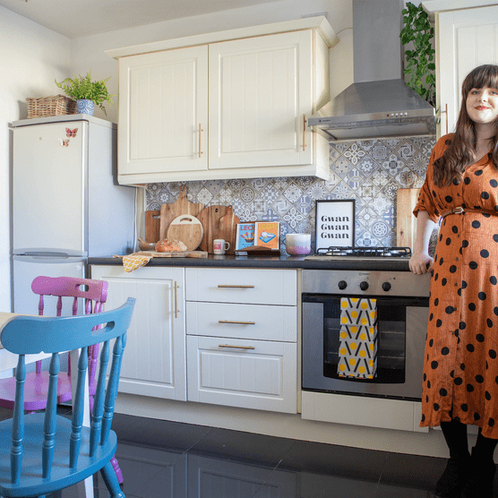 Home makeover: 'My home is second-hand glam'