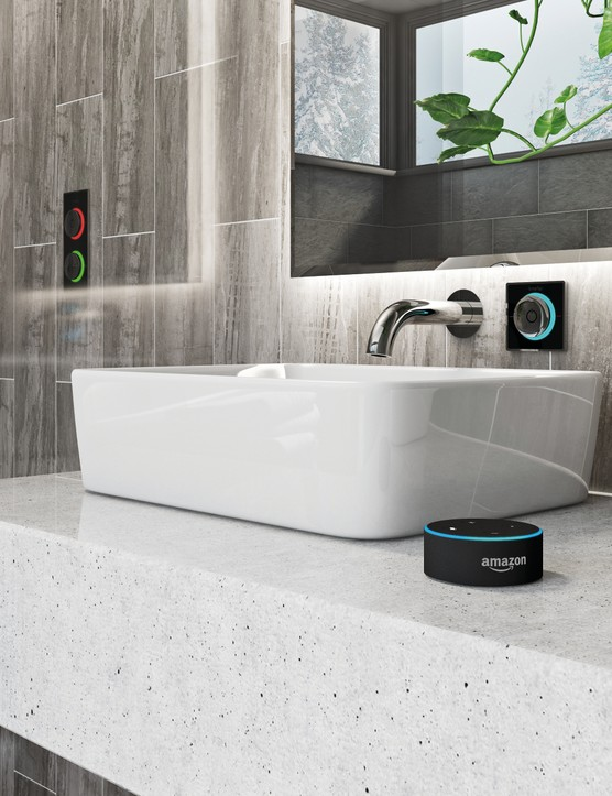 Smartap is an innovative piece of technology, designed to help reduce water consumption. Compatible with digital and smart showers, as well as basins, you can fully control and customise the flow rate of your shower and taps. You can also integrate it with your own smart home system, such as Amazon Alexa or Google Home Smartap shower system, from £629,  Victoria Plum