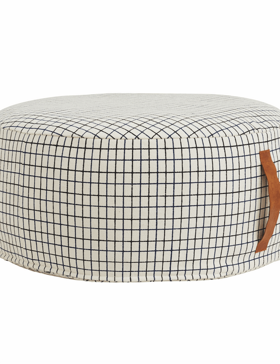 This grid-print Sit on Me Pouf will add useful extra seating and cool Scandi style. £149 from Someday Designs