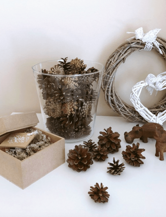 Assortment of 50 natural pine cones, £24.70, Etsy