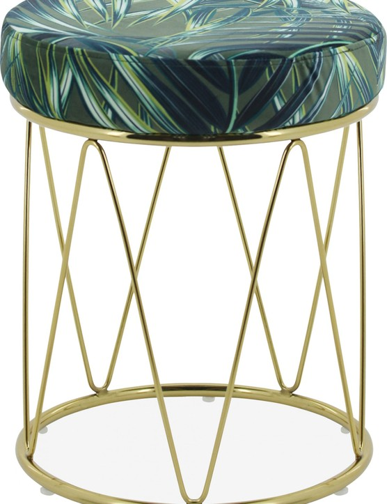 £59 from Cult Furniture Accessorise a vanity table with this Harmony geometric low stool in plush velvet.