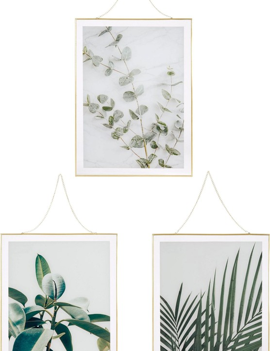 £38 for three from Very Kick-start a gallery wall with this set of three coordinating botanical prints.