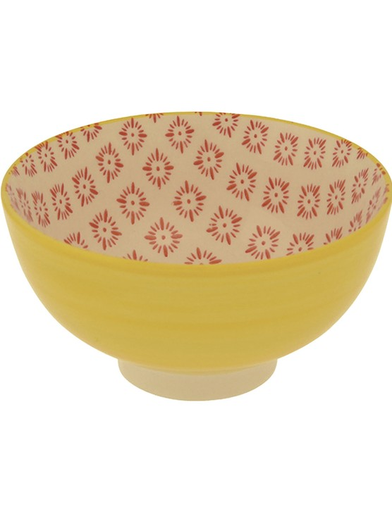 Cordoba plate, £12.95; Flamenco yellow bowl, £4.95, both Rex London
