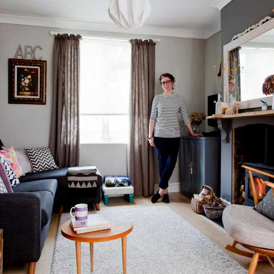 Christine's eclectic and inviting living room