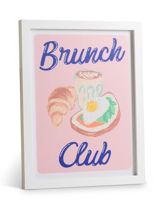 Brunch Club Diamond Dust Wall Art, £39.50, Oliver Bonas