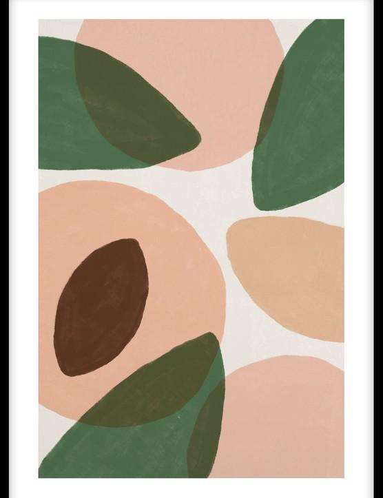 Sunkissed peaches poster, £8.95, Desenio