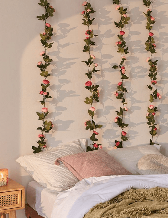 Decorative Pink Rose Vine Garland, £10.00, Urban Outfitters