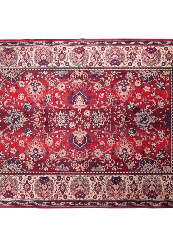 Soften the look in any high-traffic room with a Persian rug.  Dutchbone Bid Antique Style Persian Rug in Old Red, £279, Cuckooland.
