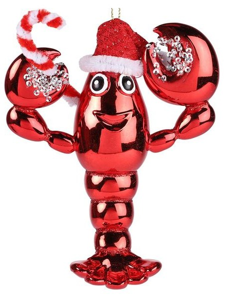 Lobster with Santa hat Christmas decoration, £4, Paperchase