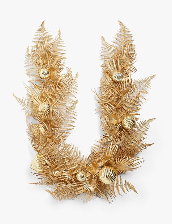 Art Nouveau Gold Fern Garland, £35, John Lewis & Partners