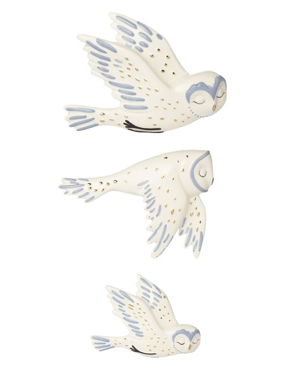 Flying owl ornaments, £12 for set of three, George at Asda
