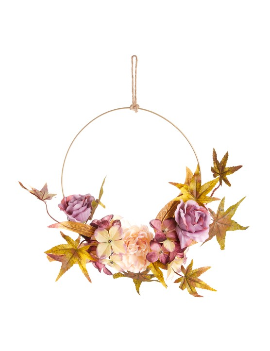 Dark floral hanging wreath, £6, Primark