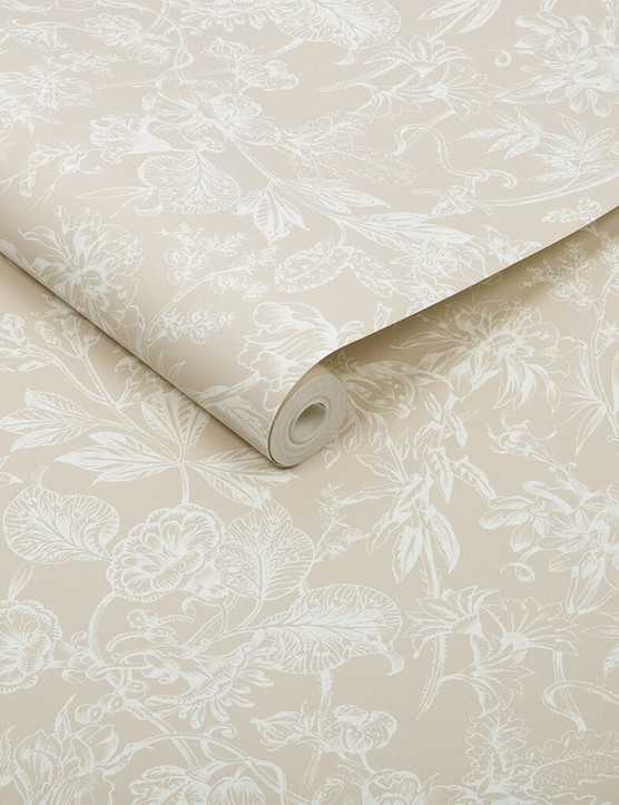 Stroma fawn wallpaper, £60, Graham & Brown
