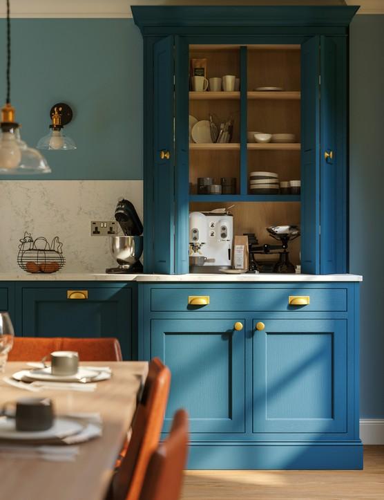 LochAnna Kitchens - Durham 1000mm Dresser in Sapphire