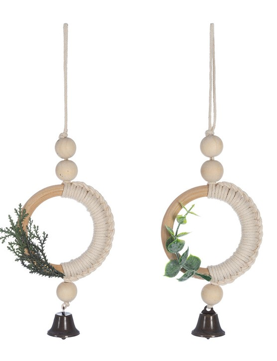 Nordic Look Macrame Tree Decoration - Set of 2, £10, Amara