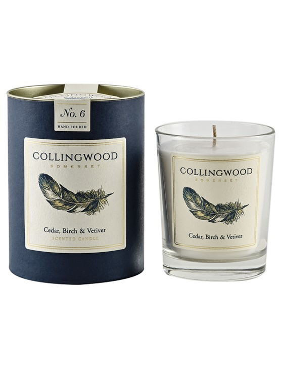 Cedar, birch and vetiver candle, £38, Collingwood of Somerset