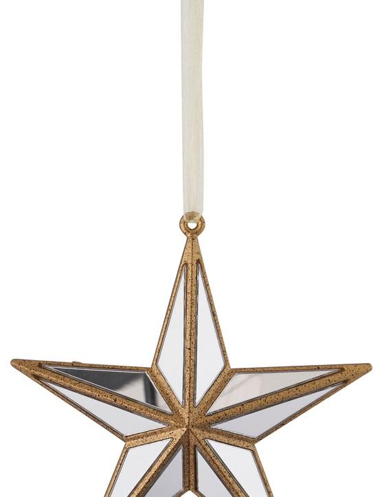 Rococo Plastic Mirror Star Ornament, 4 pack, £8, Wilko