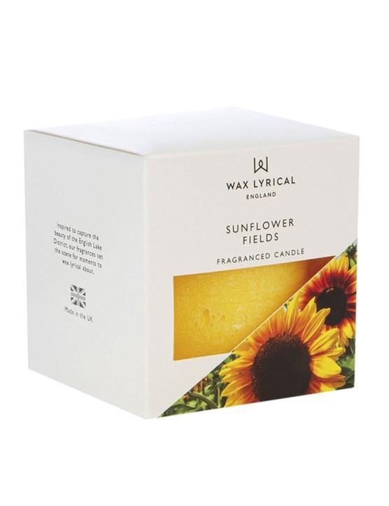 Sunflower Fields pillar candle, £6, Wax Lyrical