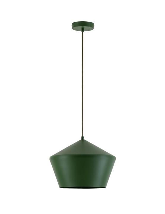 Olive green metal diner pendant, ££70, Houseof