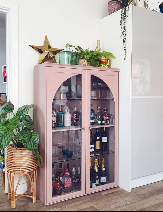 Transform an old cabinet, like Jennie @Jwstudio__ has, with some dusky rose paint