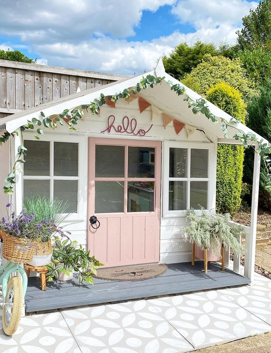 Use Frenchic's outdoor paint range to transform a playhouse or shed, just like @jo_at_sixty8 has