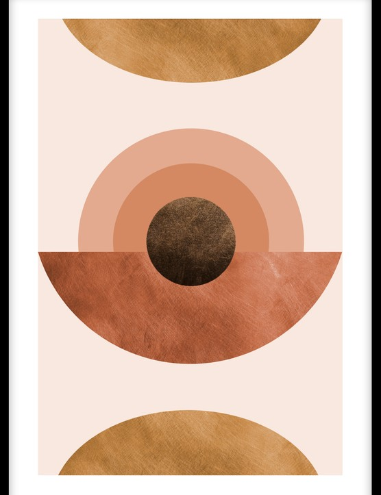 Abstract terracotta poster, £23.95, Desenio