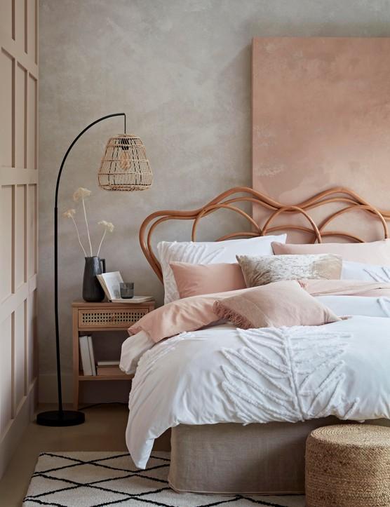 pink bedroom ideas - habitat bed