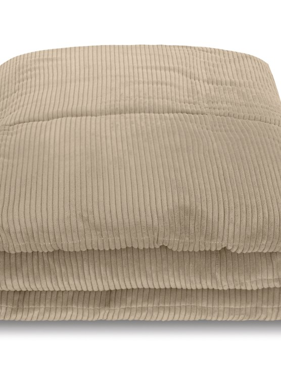 Selky Bedspread 125 x 225cm Soft Taupe