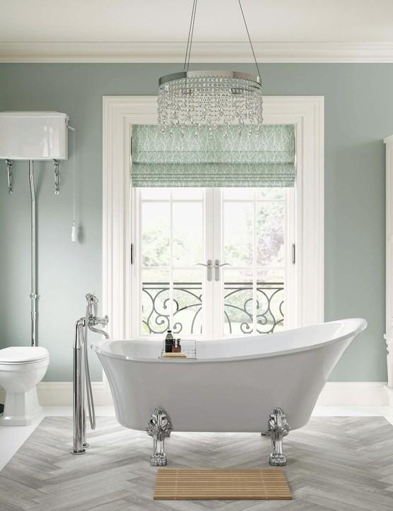 Tiverton freestanding slipper bath in heat-retaining high-grade acrylic, £650, Bathrooms To Love