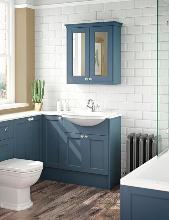 Roseberry timber furniture in Peacock Blue, from £255, Utopia