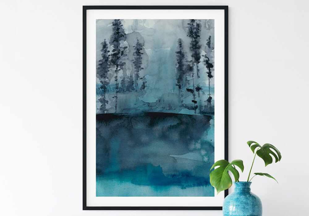 Winter Woods I print by Chariklia Zarris