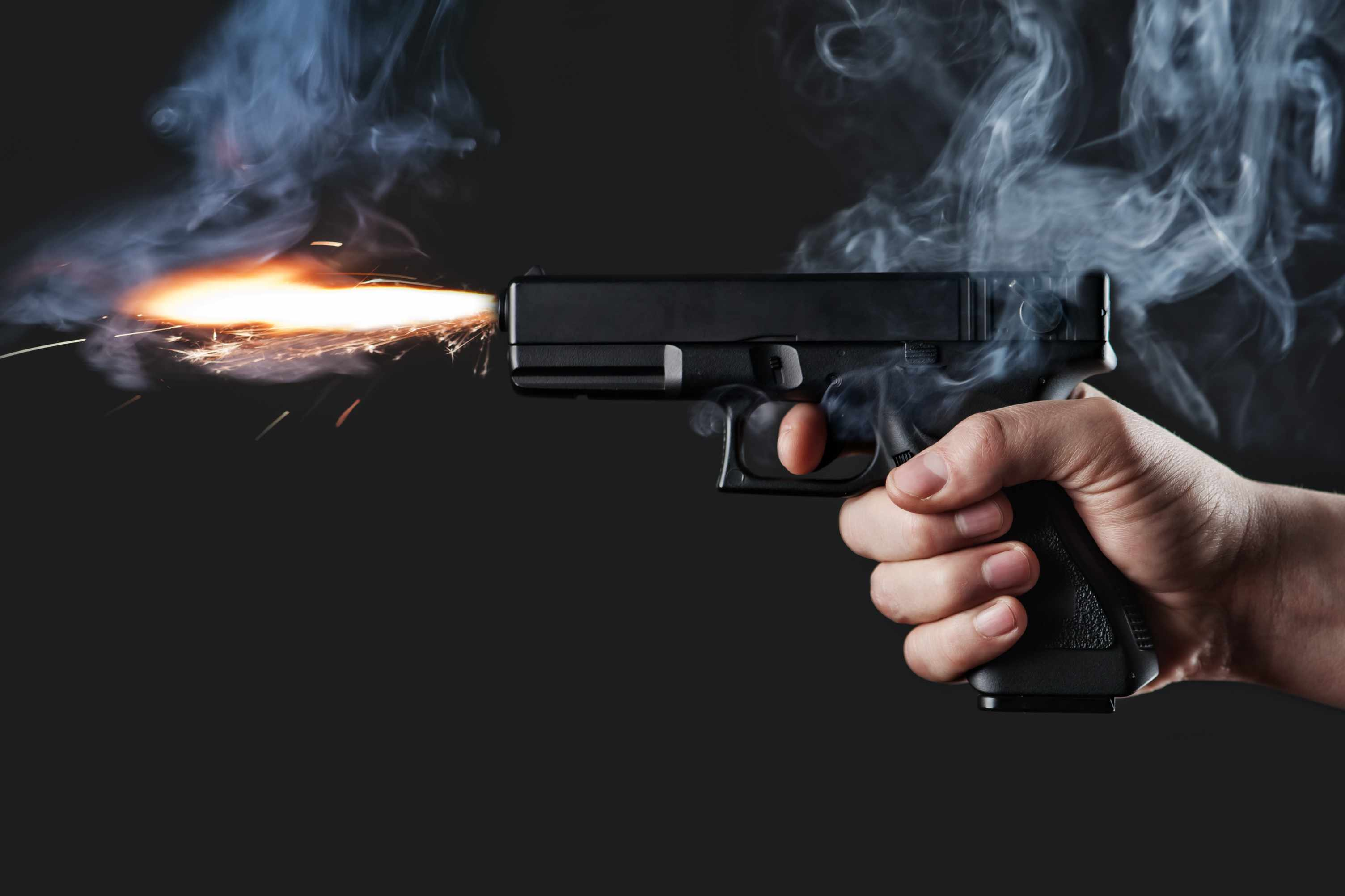 How fast does a bullet accelerate as it leaves a gun barrel? © Getty Images