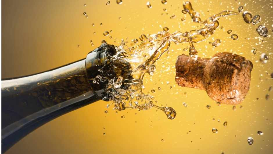How much pressure is there in a champagne bottle? © Getty Images