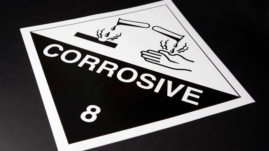 Why does corrosive acid not melt its container? © Getty Images