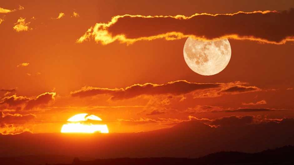Why does the Moon appear white and the Sun yellow? © Getty Images
