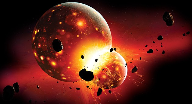 The Moon could have formed from debris created in an early collision