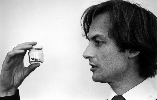 Richard Dawkins studying insect behaviour in 1976 (Terry Smith/The LIFE Images Collection/Getty Images)