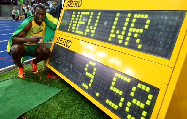 Bolt out of the blocks (© Alexander Hassenstein/Bongarts/Getty Images)